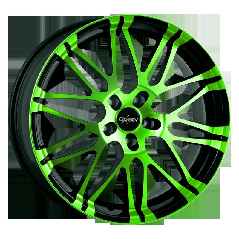 Oxigin 14 Oxrock neon green polish