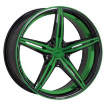 Oxigin 23 Diamond neon green polish